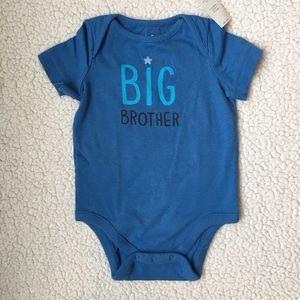 NWT BabyGap Blue Big Brother onesie 6-12 months